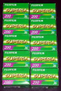 Fujifilm Fujicolor Superia ISO 200/24 - 10x36 Rolls