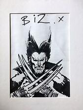 Simon Bisley WOLVERINE Original Comic Sketch SIGNED!!