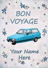 Robin Reliant coche Bon Voyage A5 tarjeta de felicitación personalizada pidrr1
