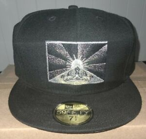 2011 RARE Black Scale New Era 59FIFTY Fitted Hat Cap 7 1/2 no beginning no end