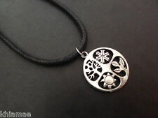 """Seasons Wheel of the Year 18""""-24"""" necklace pendant mens pagan wiccan jewellery"""