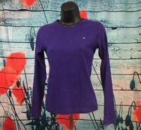 Women's Tommy Hilfiger Crew Neck Purple Sweater Pullover Size S