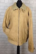 VINTAGE RETRO FAUX SHERPA LINED CORDUROY JACKET COAT URBAN 90'S UK L