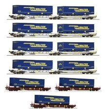 """Fleischmann 825017 Taschenwagen-Set """"LKW Walter"""" der AAE, 7-tlg, Ep.VI, Spur N"""