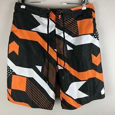 Tribord Men's Swim Board Shorts Size 33 Orange Black White