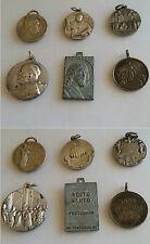 Lotto di 6 medagliette religiose Papa Pio XI e Gesù