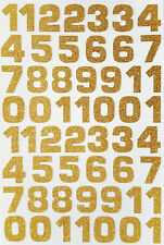 54 ! Glitterati Number Stickers Large Glittery Gold 18mm x 23 mm for DIY Crafts