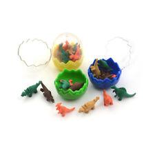 8Pcs/Pack Novelty Mini Dinosaur Egg Pencil Rubber Eraser with egg Ly