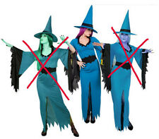 sorcière bleu taille 36/38 deguisement costume halloween soirée masquée fetes
