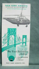1954 New York Airways Helicopter  Brochure Timetable