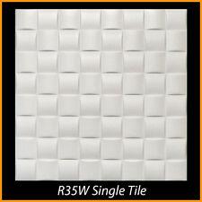 Ceiling Tiles Glue Up Styrofoam 20x20 R35 White Lot of 8