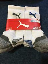 PUMA 8 Pack Men's White Crew Socks - COOL CELL Shoe Size 6-12