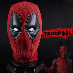 Cosplay Deadpool Maske Halloween Horror Party Superhero Requisiten Atemhelm DE