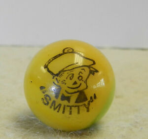 Vintage Peltier Comic Picture Marble Smitty .65 Inches