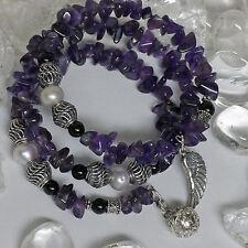 Echte Edelstein-Armbänder im Armreif-Stil mit Amethyst für Damen