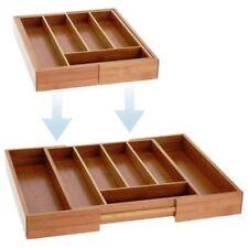 Vassoio per posate cassetto in legno di bambù che si estende ESPANDIBILE Cassetto Della Cucina Utensile da Sorter