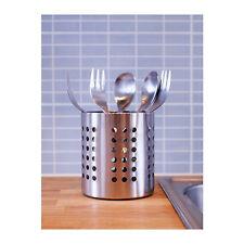 IKEA ORDNING Cutlery Stand Stainless Steel Utensil  Holder Organiser Storage AU