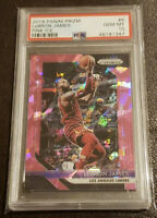 2018-19 Panini Prizm LeBron James Pink Ice Refractor Card #6 PSA 10 Gem Mint!
