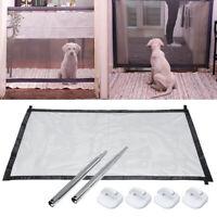 Pet Dog Safety Gate Baby Enclosure Stair Safe Guard Folding Magic Net Mesh Fence
