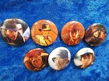 "1"" pinback button set inspired  by ""Indiana Jones""  Raiders of the lost ark"