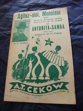 Partitura Shake me, Monsieur Antonita Samba de A. T. Cekow 1956
