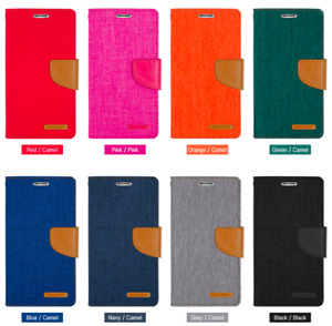 GOOSPERY® Canvas Diary Wallet Case For iPhone, Samsung, Huawei And More
