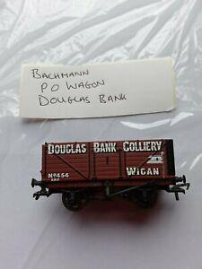 Bachmann Model Railways OO GAUGE -P O WAGON - DOUGLAS BANK /WIGAN - no box