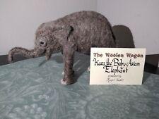 "Needle Felted Asian Baby Elephant ""Karu"" by Megan Nedds"