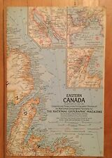 National Geographic Magazine Supplement Map May 1967 Eastern Canada