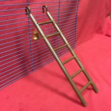 "Plastic Toy Ladder & Bell 11"" Brown Hamsters Mice Rats Gerbil Dwarf Hamsters"