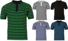 Polyester Striped Short Sleeve Basic T-Shirts for Men
