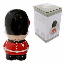 Novelty ceramic red London guard money box piggy bank guardsman Best of British
