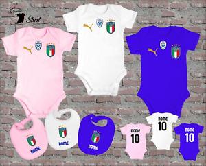 BODY BAVAGLINO NEONATO ITALIA NAZIONALE CAMPIONI EURO 2020 PERSONALIZZATO NOME
