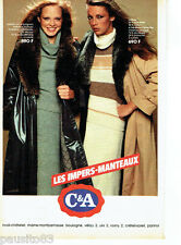 PUBLICITE ADVERTISING 096  1980  les impers-manteaux C&A