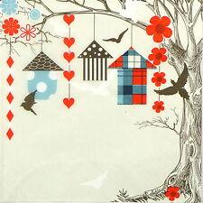 4x Tovaglioli di carta per Decoupage Decopatch colorati giardino