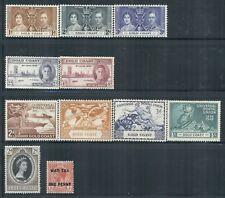 GOLD COAST 112-60,MR1 SG85-165 MH 1918-53 Commemoratives 3 sets, 1 single Cat$13
