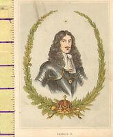 C1860 Vittoriano Stampa ~ Charles II Di