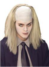 Grey Mortician Wig Bald Dead Corpse Scary Butler Balding Halloween Costume Grave