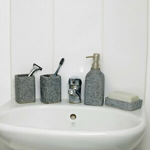 4 Pcs Bathroom Accessory Set Toothbrush Soap Razor Holder Soap Dispenser Set