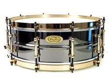 "More details for worldmax 14x5"" black brass snare drum aztec gold"