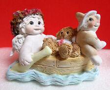 Dreamsicles Land Ho! Teddy Rabbit on Boat Cast Art Cherub Angel Figurine