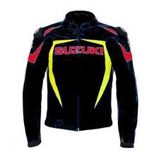 SUZUKI Mens Motorbike Leather Jacket Biker Racing Motorcycle Leather Jackets