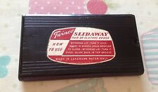 Vintage Black Early Plastic Twinco Slidaway Clothes Brush/Folding/Retro/50's