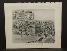 Connecticut, Map, 1893, New London, The Bed Comfortable Factory Print, L5#84