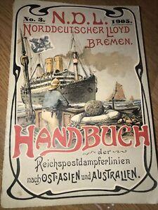 Rare 1905 NORDDEUTSCHER LLOYD BREMEN Brochure hand book