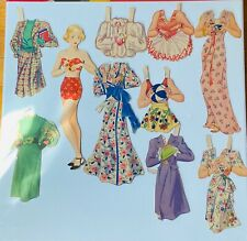 Vintage Paper Dolls 50s Single Figure and Group with clothes