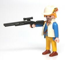 Playmobil Figure Jungle Safari Adventure Explorer Animal Print Hat Rifle 3018