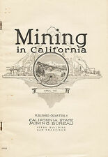 RARE fragile old 1st ed, 300 gold mines, Amador County, Calif, Mother lode, VG !