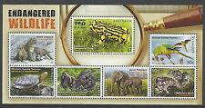AUSTRALIA 2016 ENDANGERED WILDLIFE Elephant Bird Tortoise Gorilla S/Sheet MNH