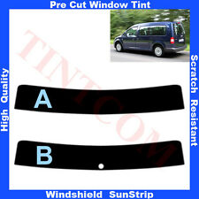Pre Cut Window Tint Sunstrip for VW Caddy Maxi 5 Doors 2008-2010 Any Shade